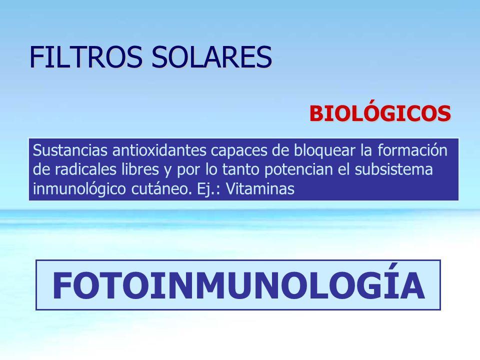 FOTOINMUNOLOGÍA FILTROS SOLARES BIOLÓGICOS