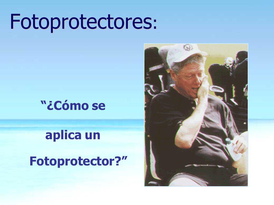 aplica un Fotoprotector