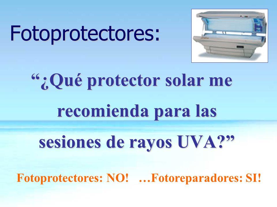 ¿Qué protector solar me recomienda para las sesiones de rayos UVA