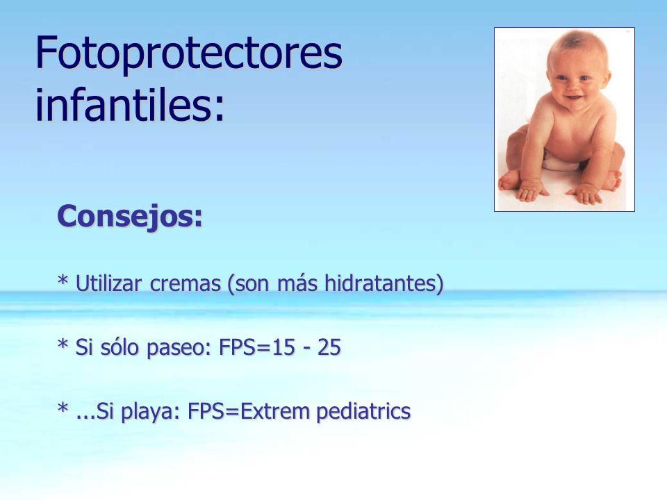 Fotoprotectores infantiles: