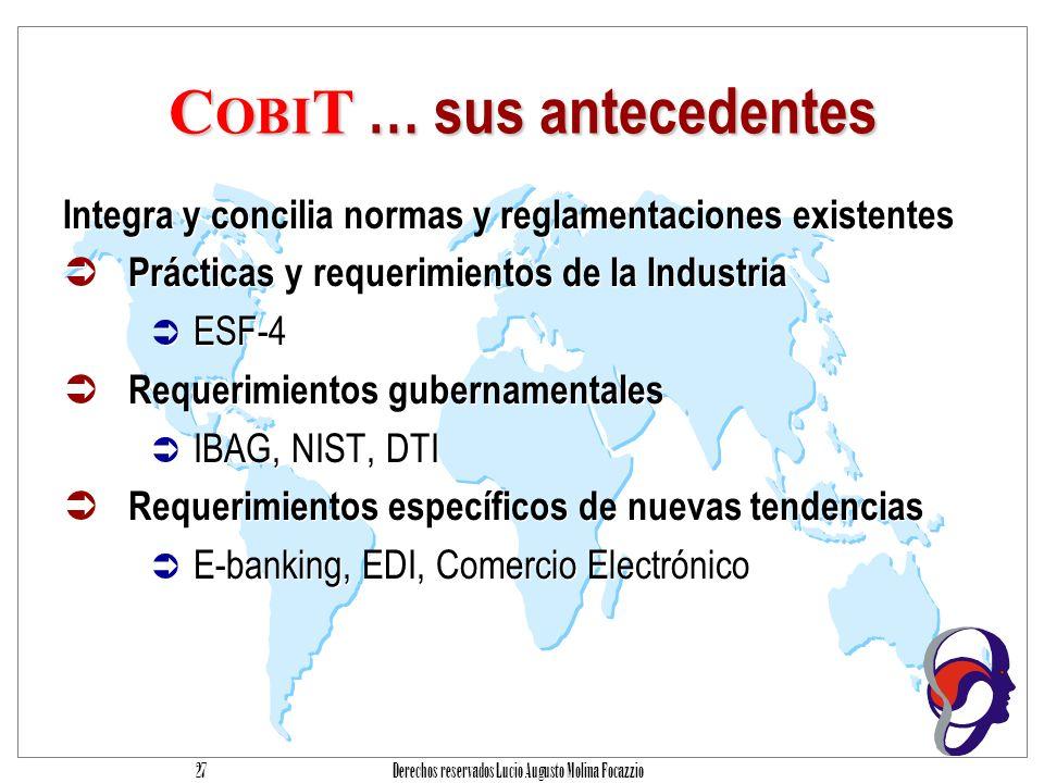 COBIT … sus antecedentes