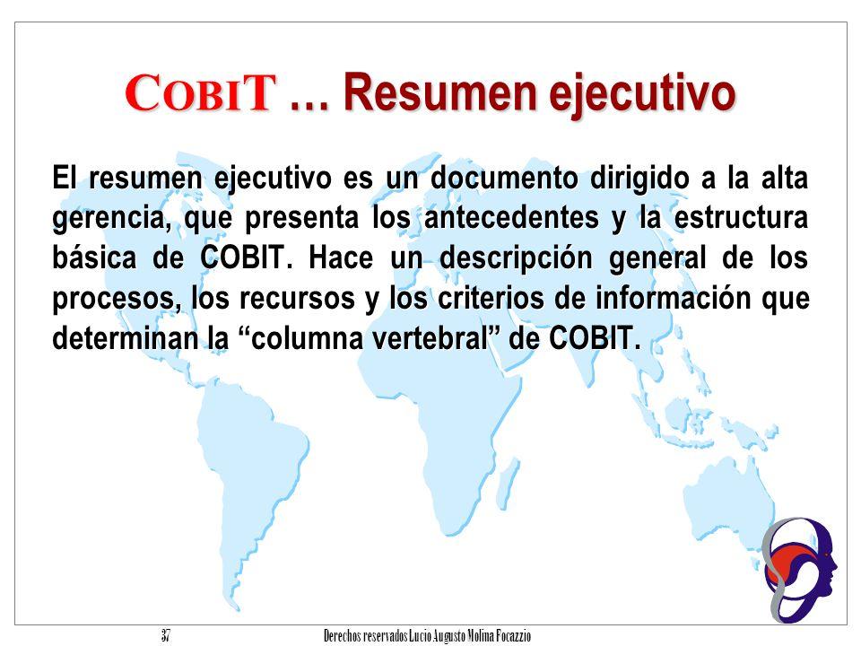 COBIT … Resumen ejecutivo
