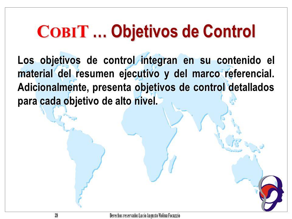 COBIT … Objetivos de Control