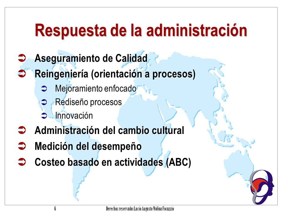 Respuesta de la administración