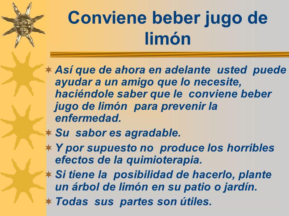 Conviene beber jugo de limón