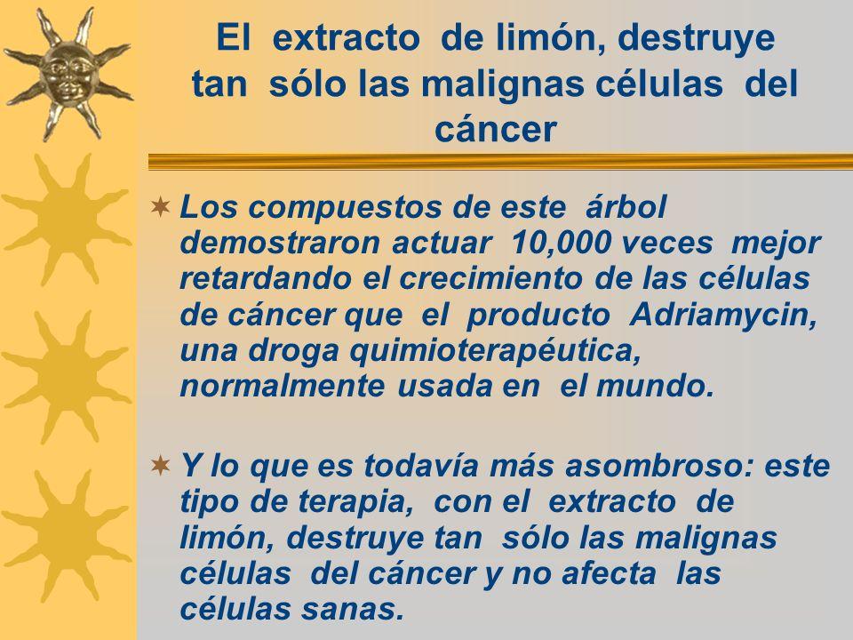 El extracto de limón, destruye tan sólo las malignas células del cáncer