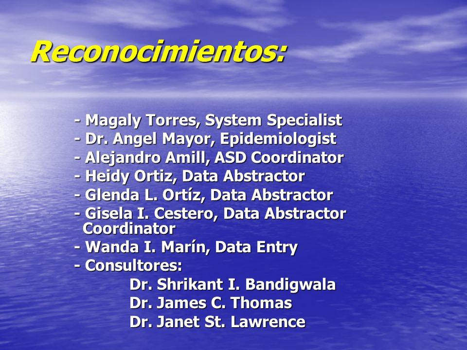 Reconocimientos: - Magaly Torres, System Specialist