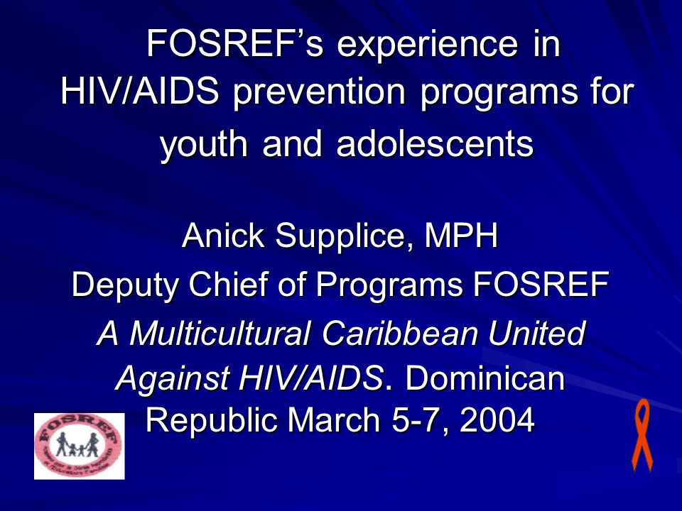 Deputy Chief of Programs FOSREF