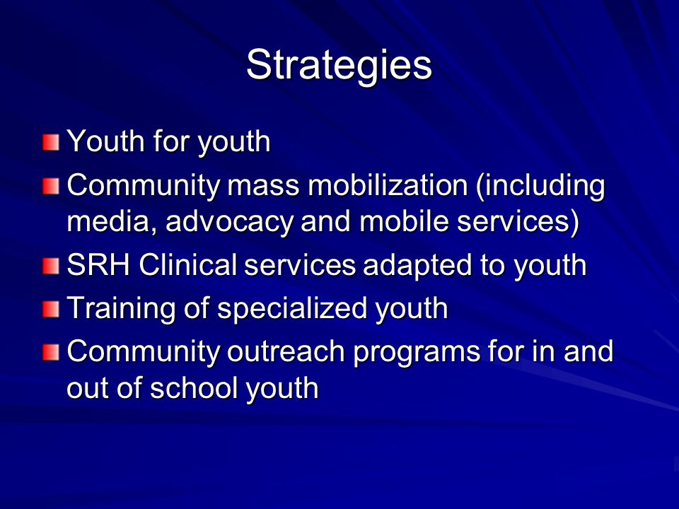 Strategies Youth for youth