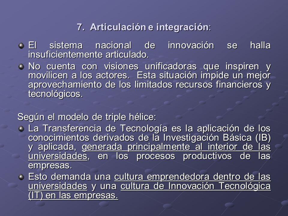 7. Articulación e integración: