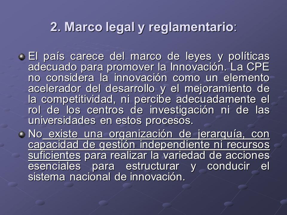 2. Marco legal y reglamentario: