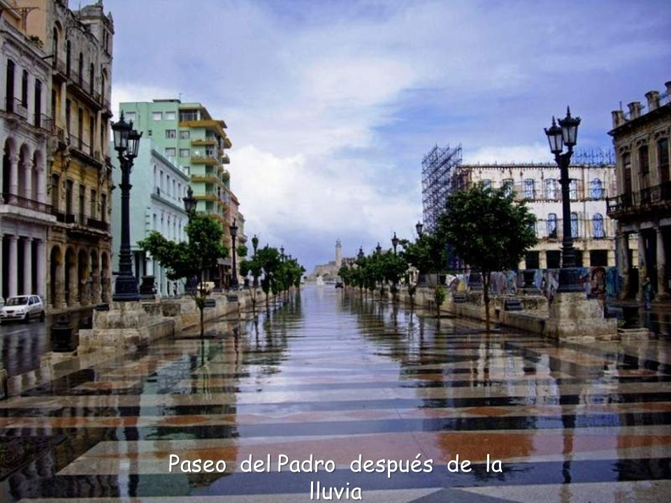 Paseo del Padro después de la lluvia