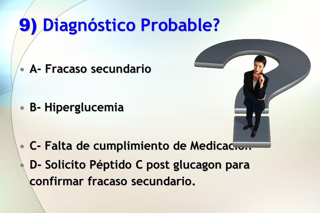 9) Diagnóstico Probable