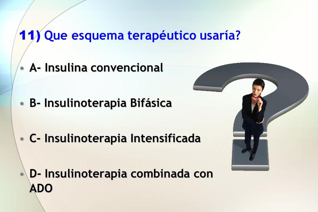 11) Que esquema terapéutico usaría
