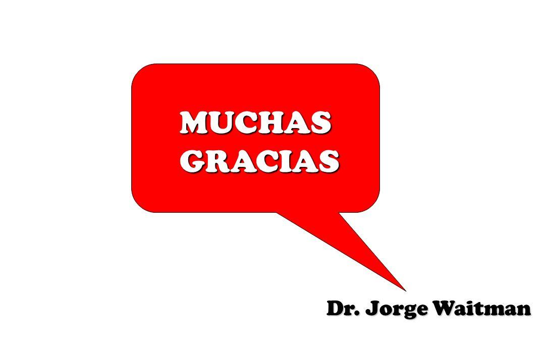 MUCHAS GRACIAS Dr. Jorge Waitman