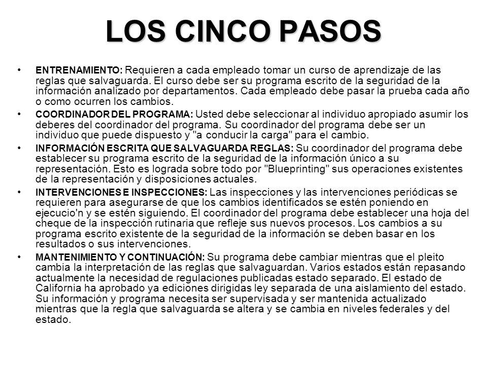 LOS CINCO PASOS