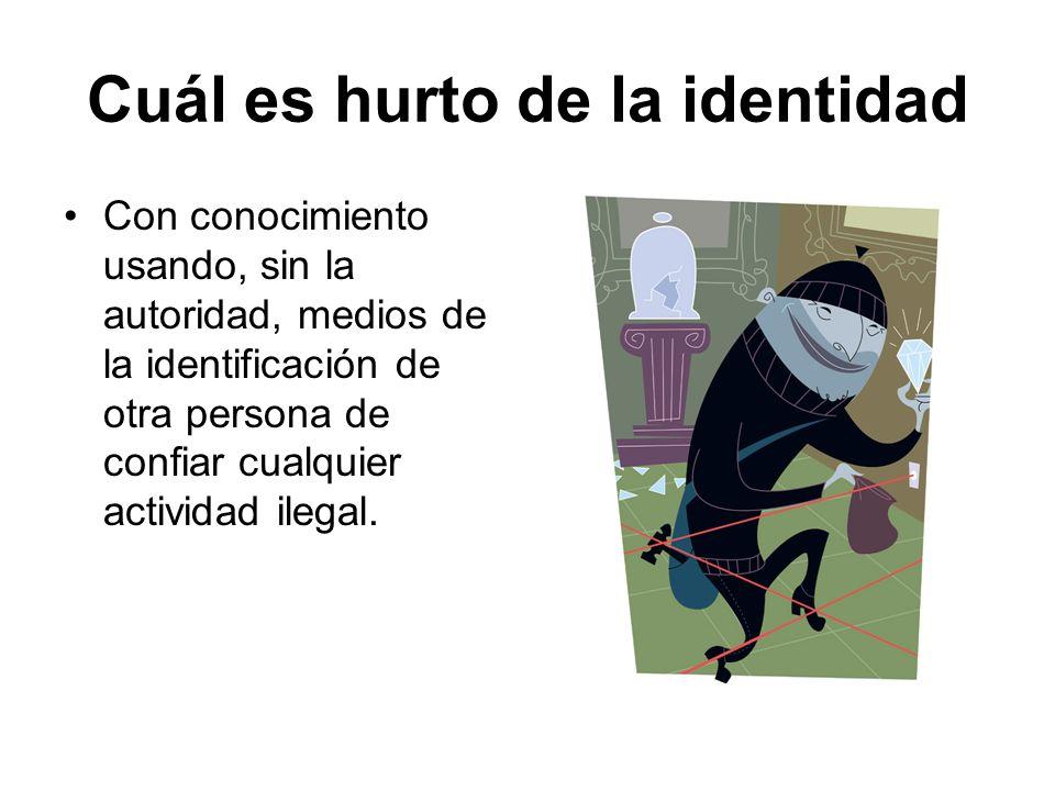 Cuál es hurto de la identidad