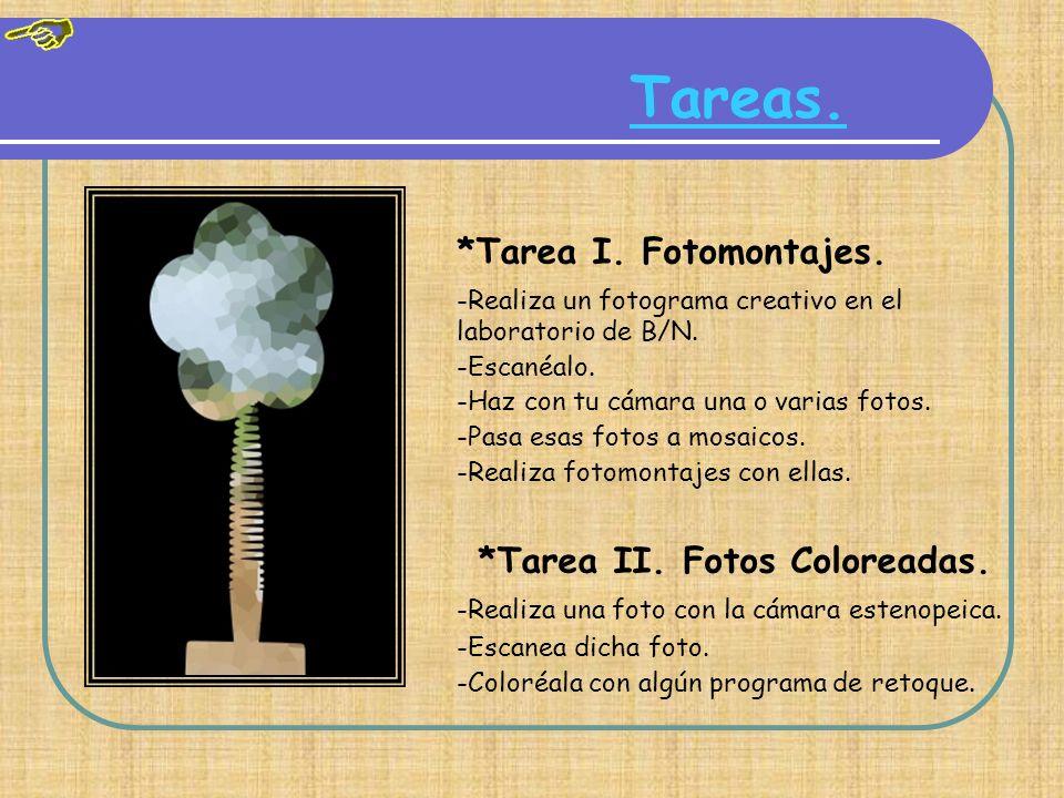 Tareas. *Tarea I. Fotomontajes.