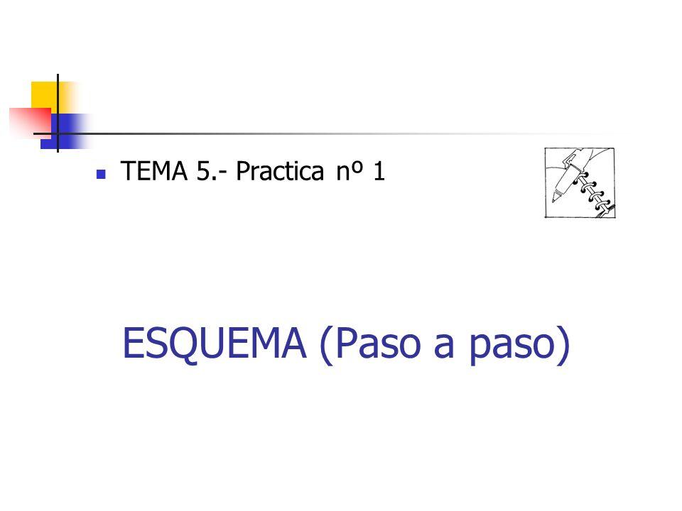 TEMA 5.- Practica nº 1 ESQUEMA (Paso a paso)