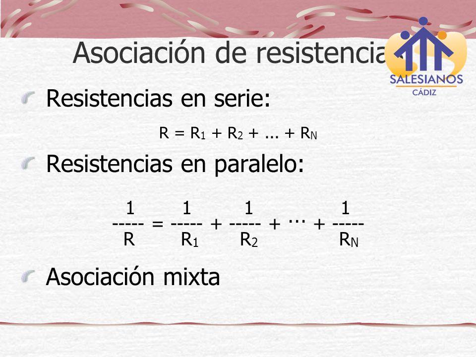 Asociación de resistencias