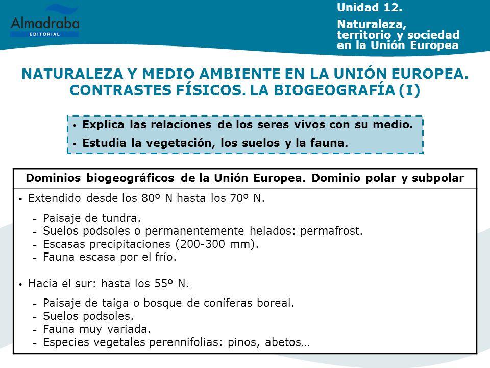 Dominios biogeográficos de la Unión Europea. Dominio polar y subpolar