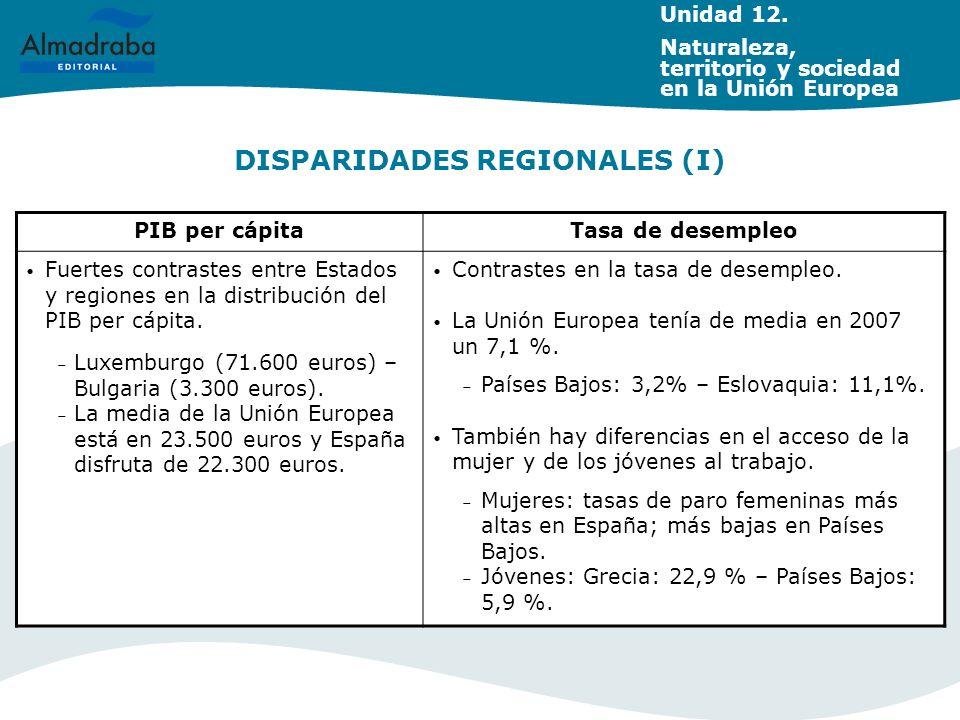 DISPARIDADES REGIONALES (I)