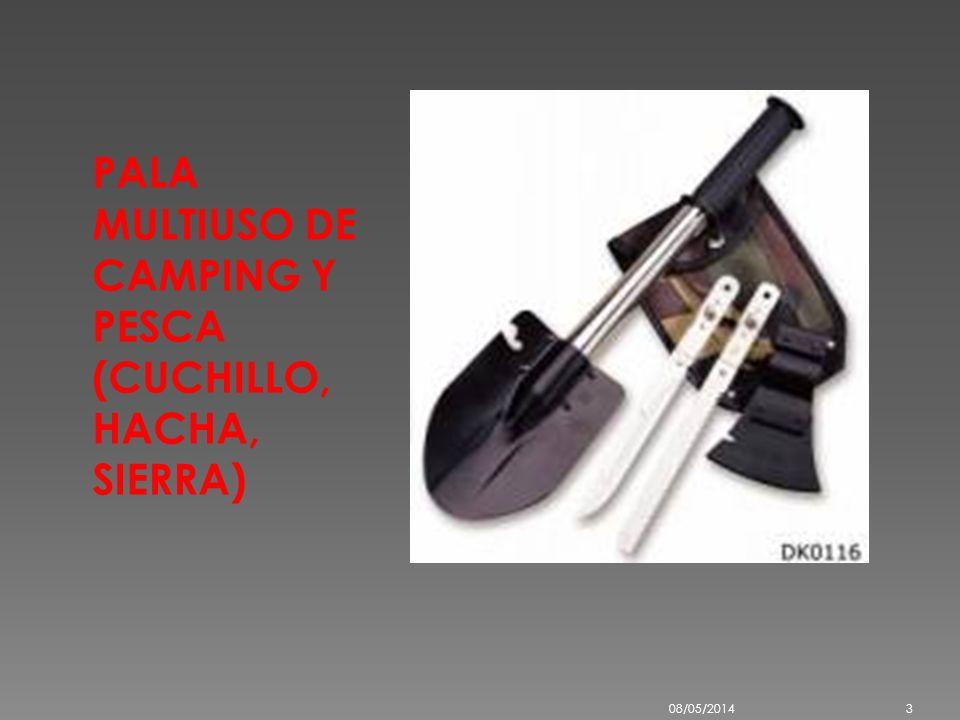 PALA MULTIUSO DE CAMPING Y PESCA (CUCHILLO, HACHA, SIERRA)