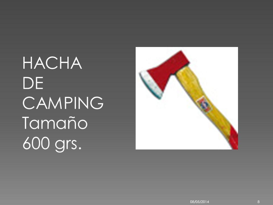 HACHA DE CAMPING Tamaño 600 grs.
