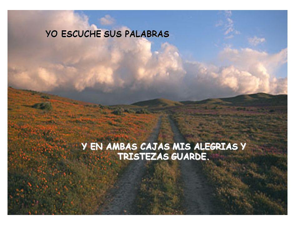 Y EN AMBAS CAJAS MIS ALEGRIAS Y TRISTEZAS GUARDE.