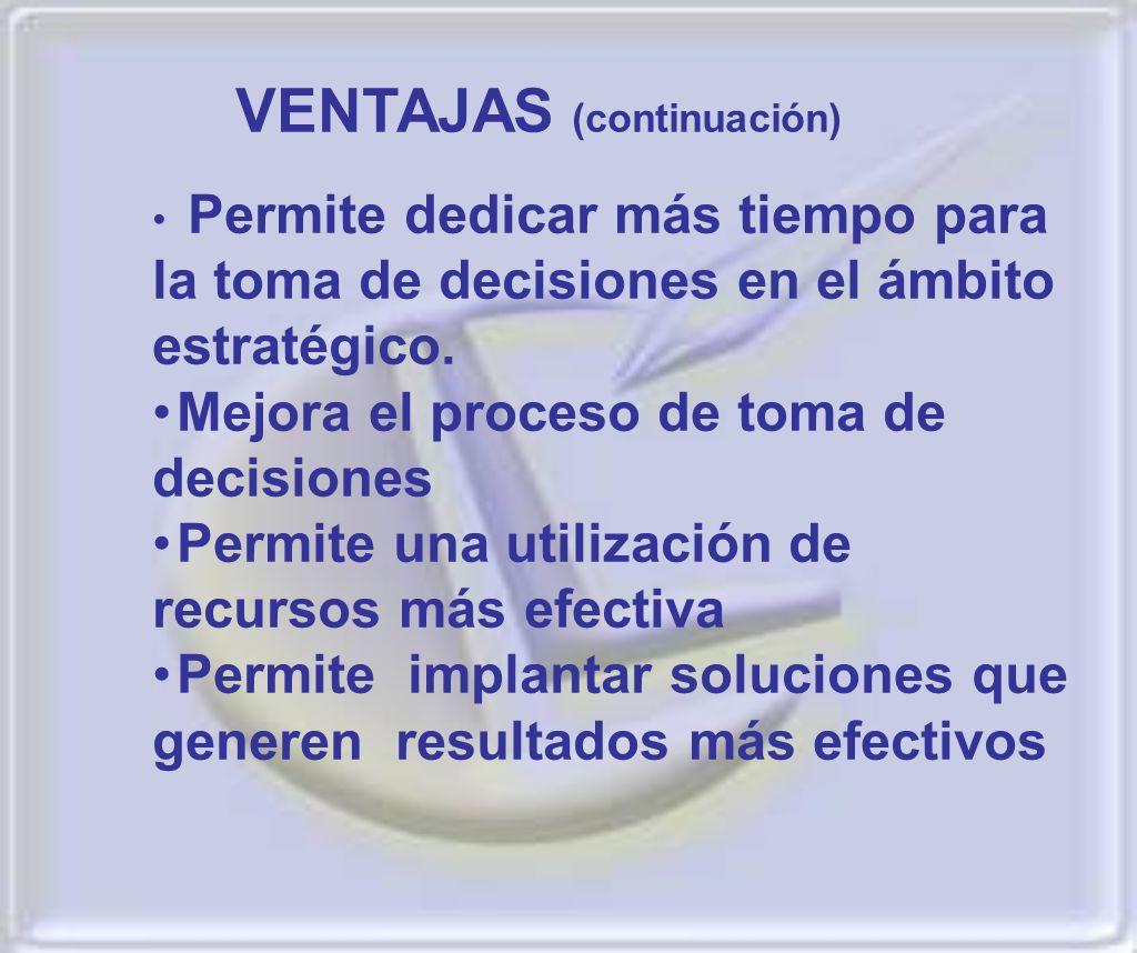 VENTAJAS (continuación)