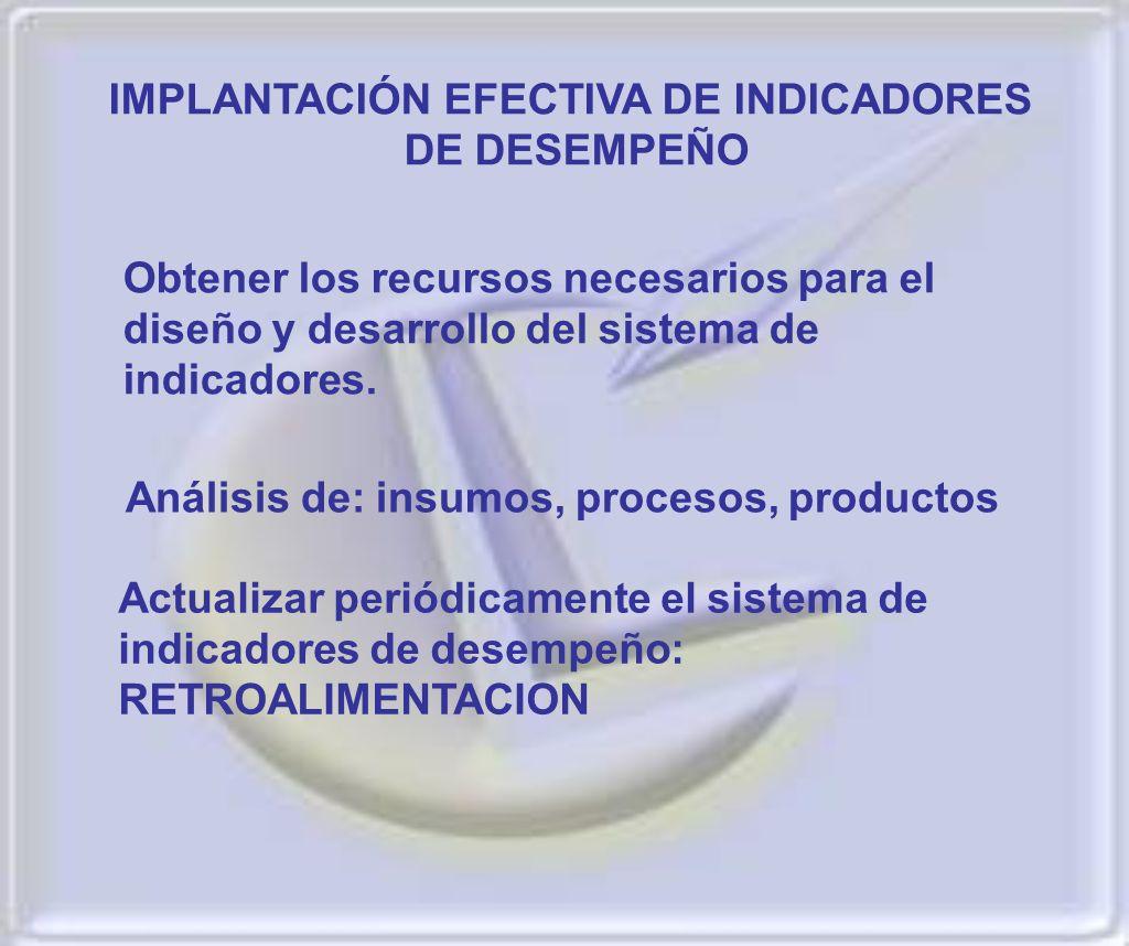 IMPLANTACIÓN EFECTIVA DE INDICADORES