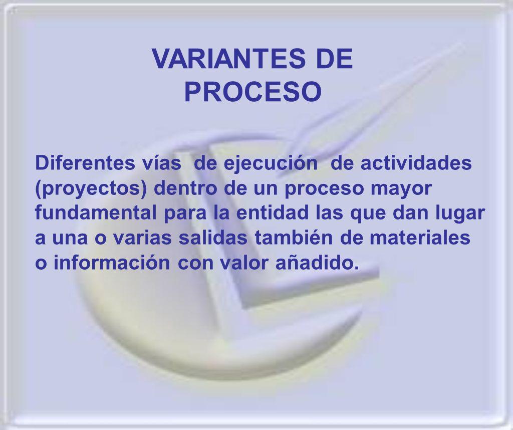 VARIANTES DE PROCESO