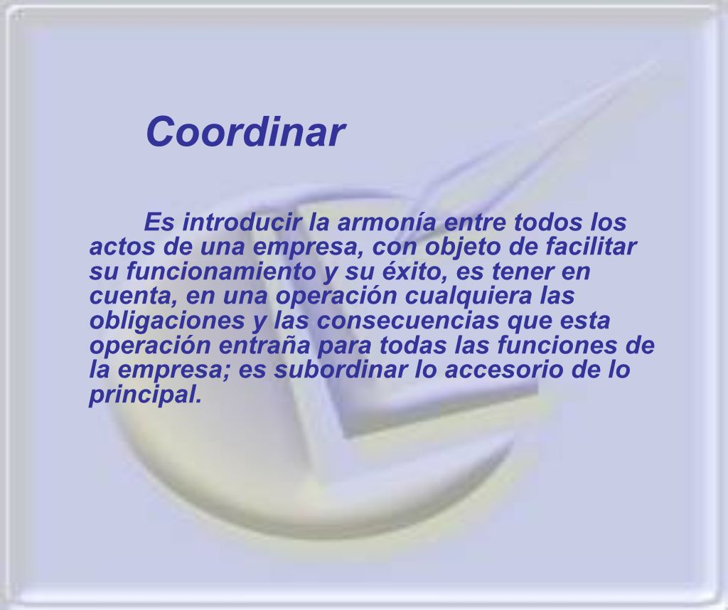 Coordinar