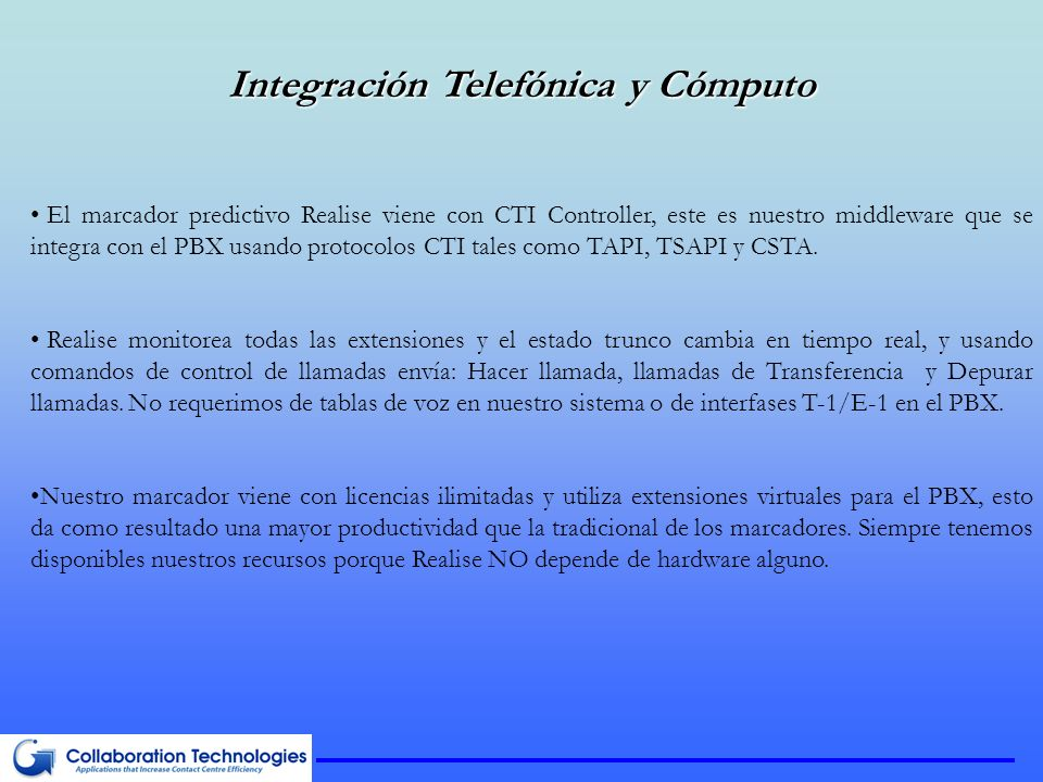 Integración Telefónica y Cómputo