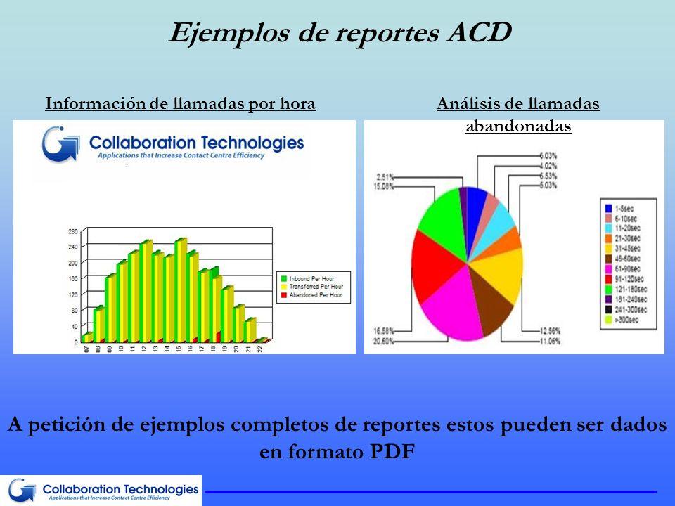 Ejemplos de reportes ACD
