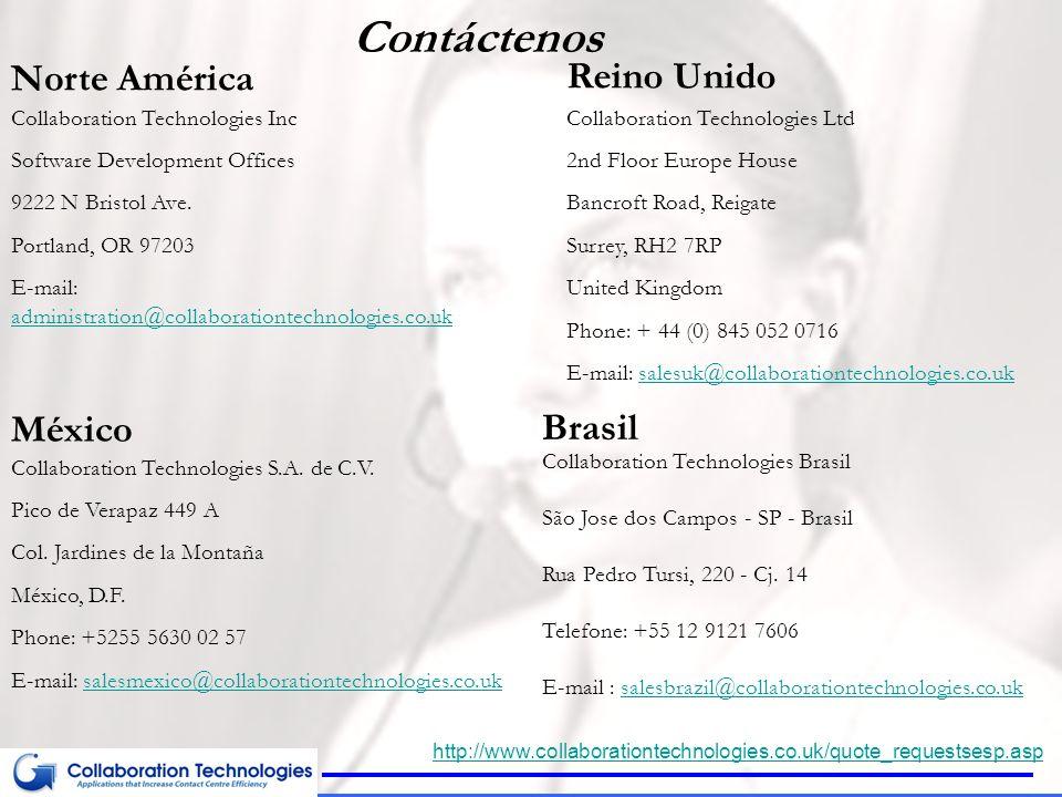 Contáctenos Norte América Reino Unido México Brasil