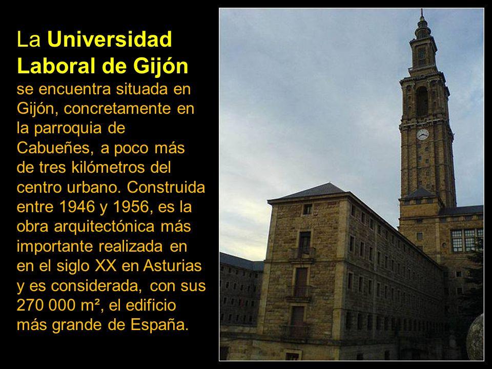 La Universidad Laboral de Gijón se encuentra situada en Gijón, concretamente en la parroquia de Cabueñes, a poco más de tres kilómetros del centro urbano.