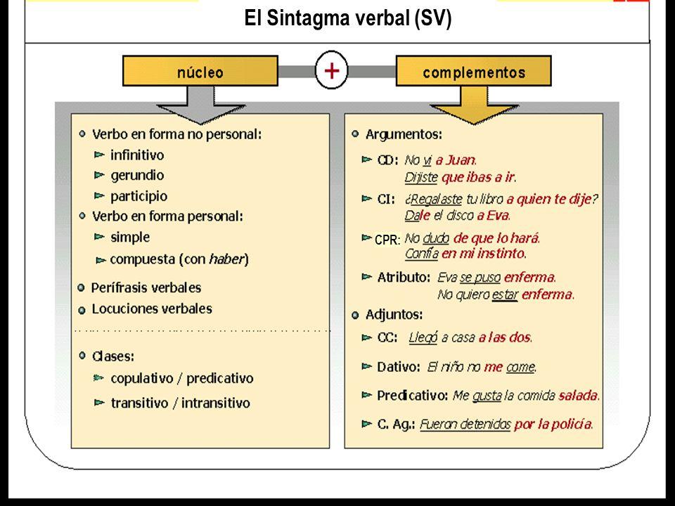 El Sintagma verbal (SV)