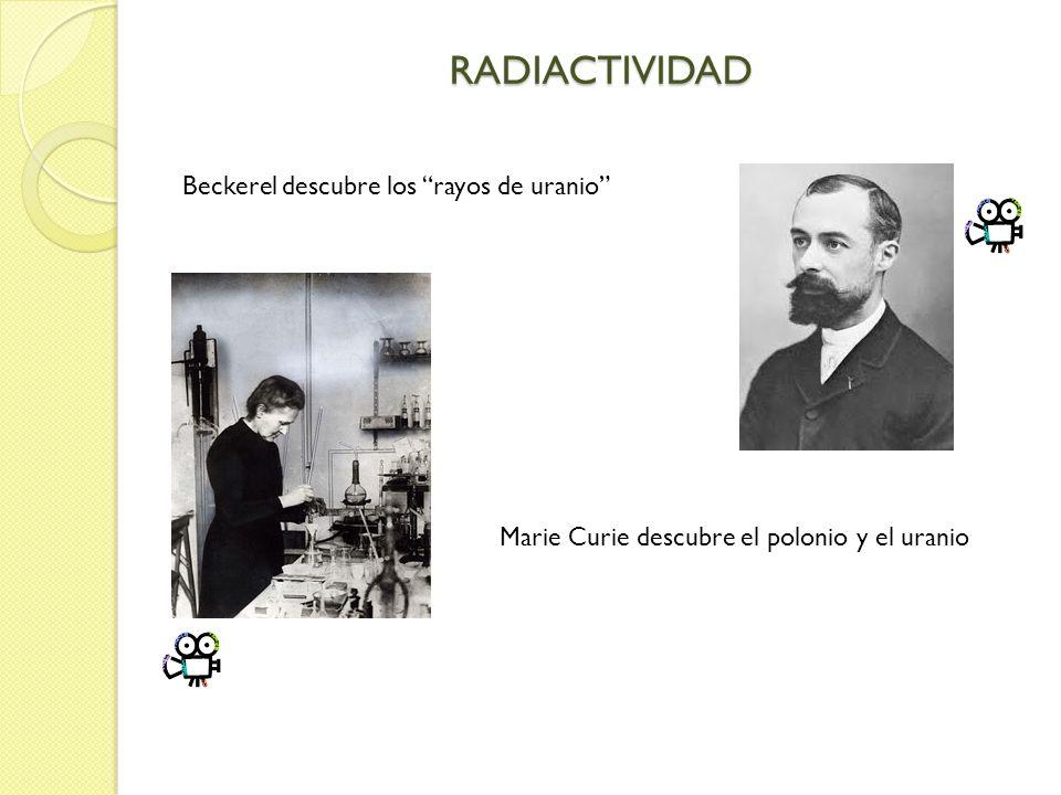 RADIACTIVIDAD Beckerel descubre los rayos de uranio