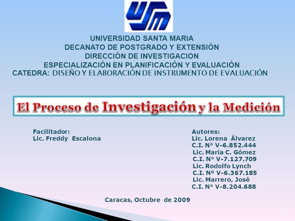 El Proceso de Investigación y la Medición