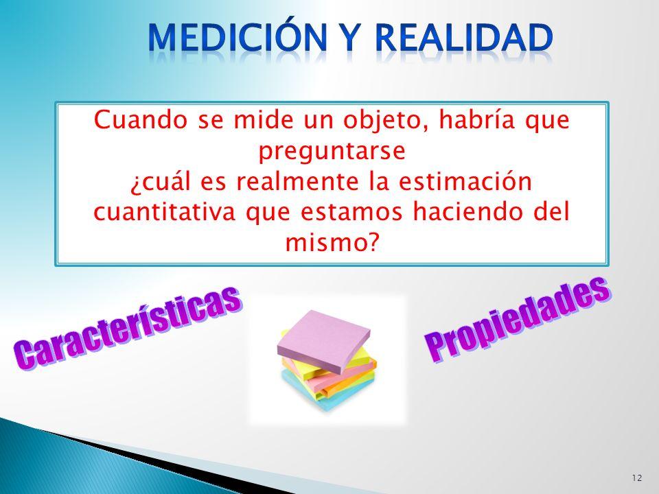 Medición y Realidad Propiedades Características