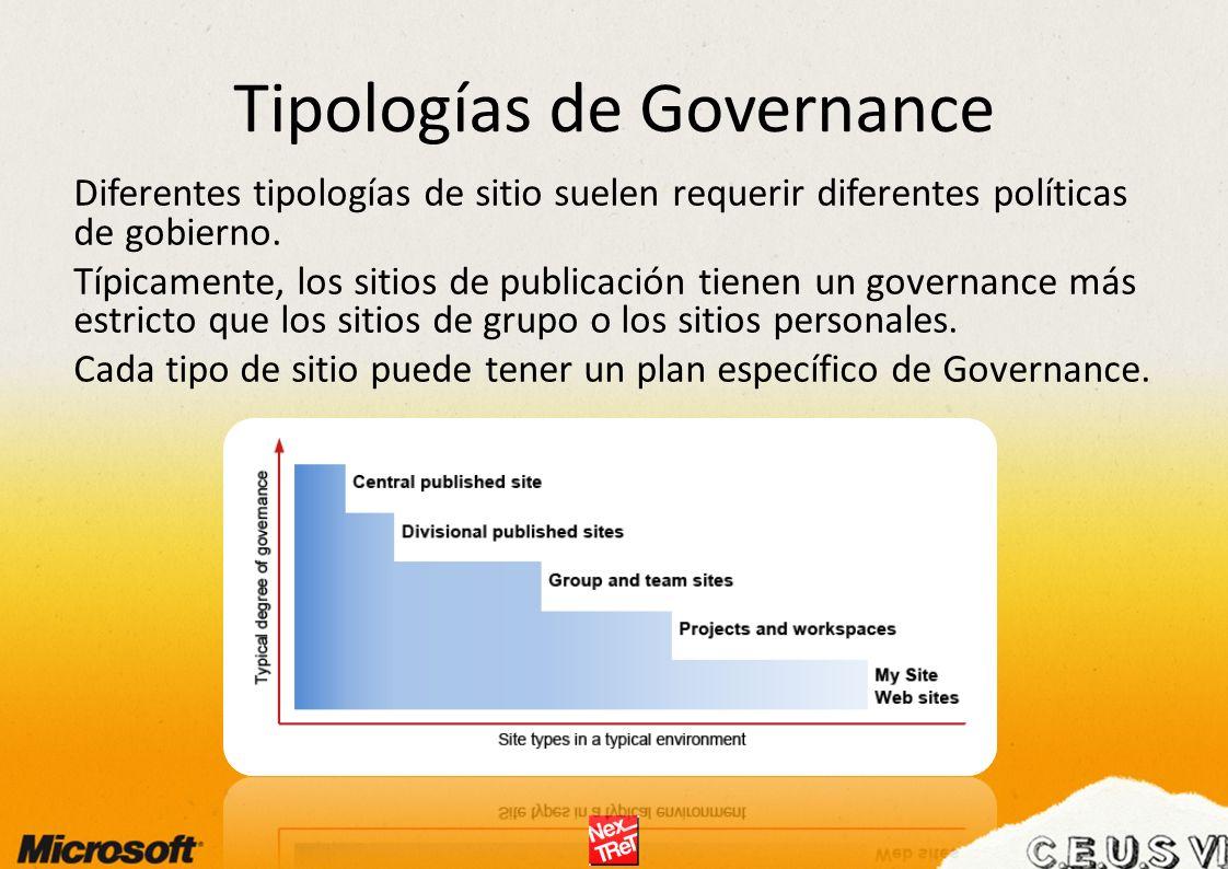 Tipologías de Governance