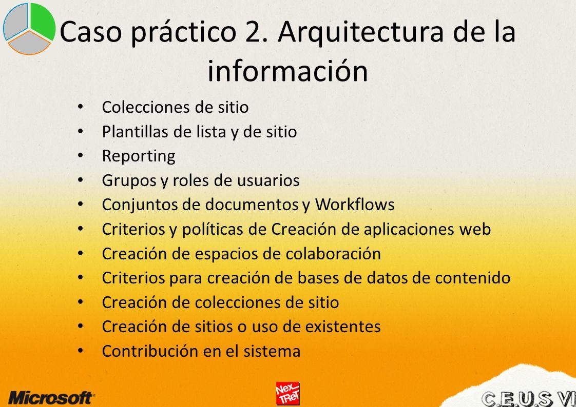 Caso práctico 2. Arquitectura de la información