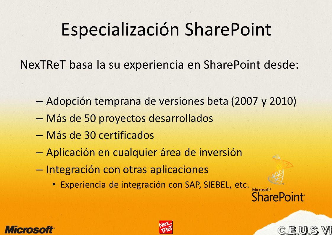 Especialización SharePoint