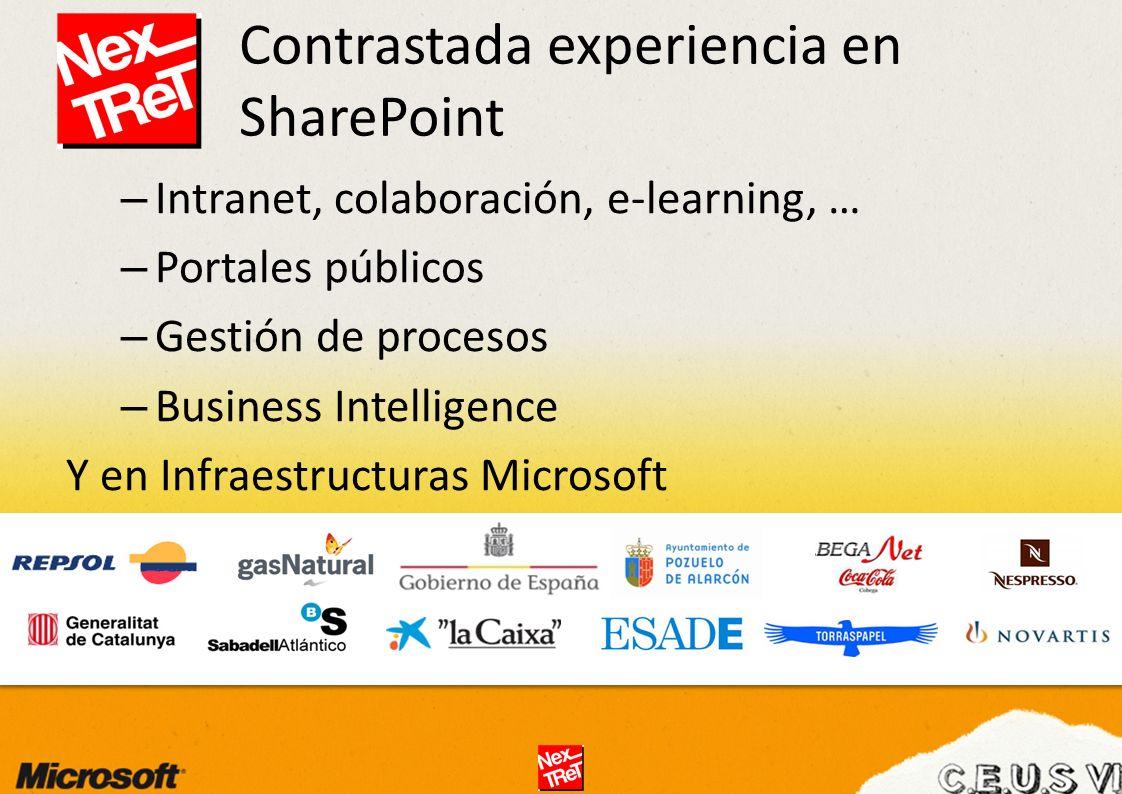 Contrastada experiencia en SharePoint