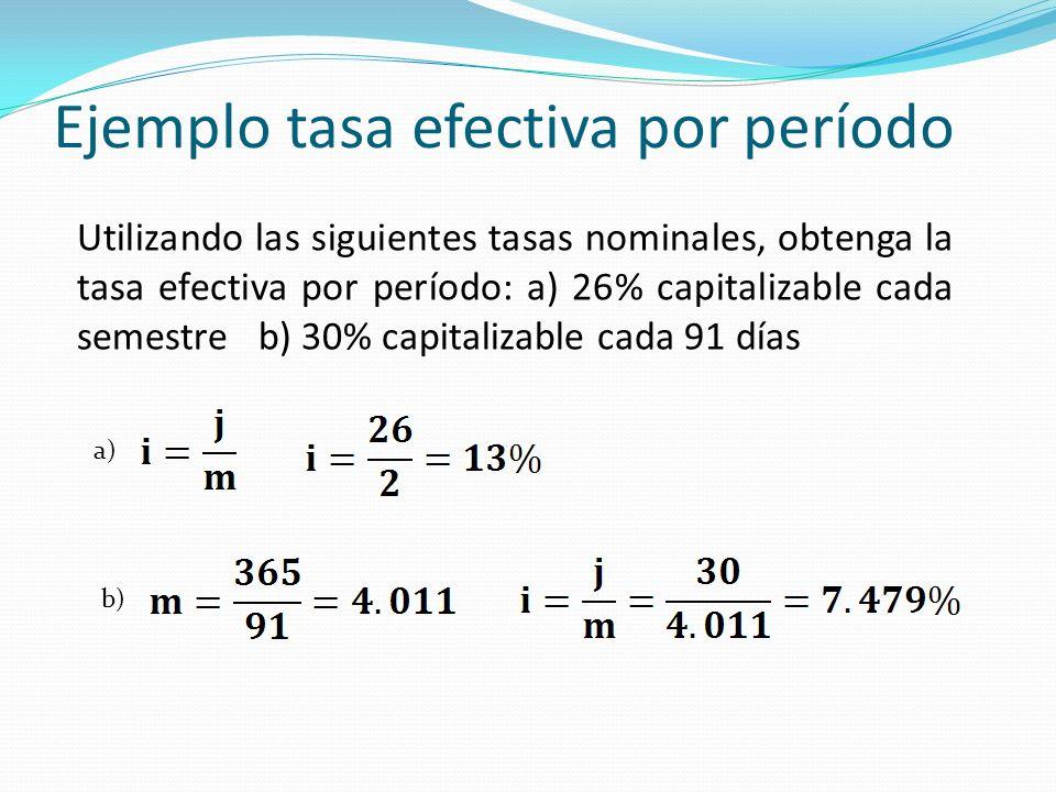 Ejemplo tasa efectiva por período