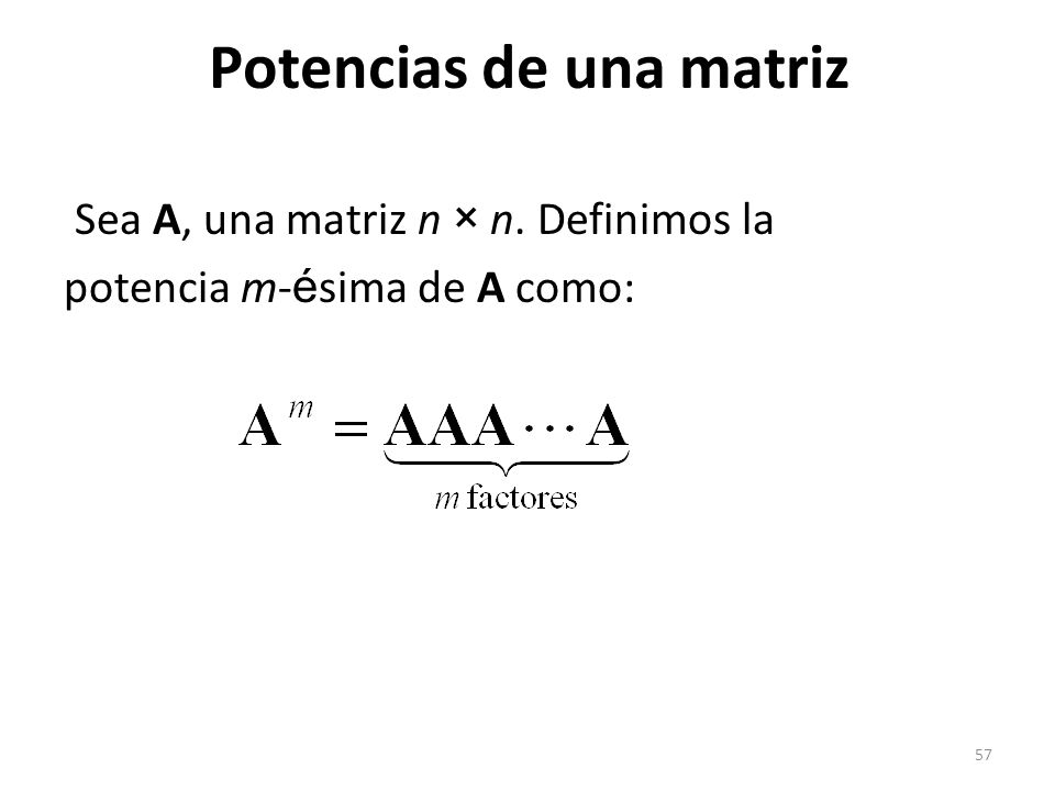 Potencias de una matriz