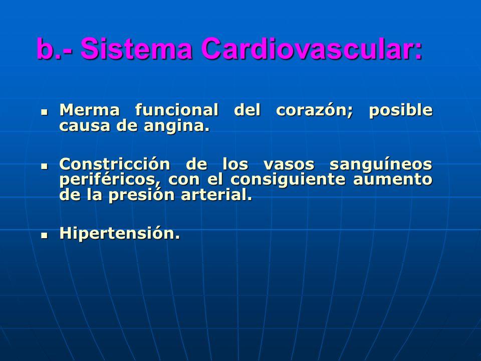 b.- Sistema Cardiovascular:
