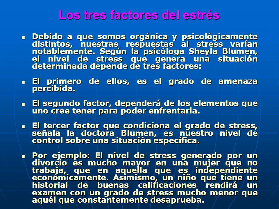 Los tres factores del estrés