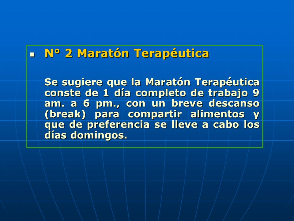 N° 2 Maratón Terapéutica